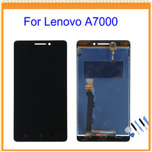100% New For Lenovo A7000 LCD Screen Display with Touch Screen Digitizer Assembly Black Color + Tools Free Shipping