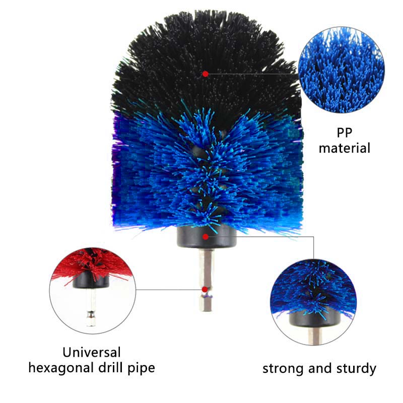 2019 New 3Pcs/Set Electric Drill Cleaning Brush Heads For Power Cleaning Saves Manual Cleaning Power Scrubber Dril Accessories