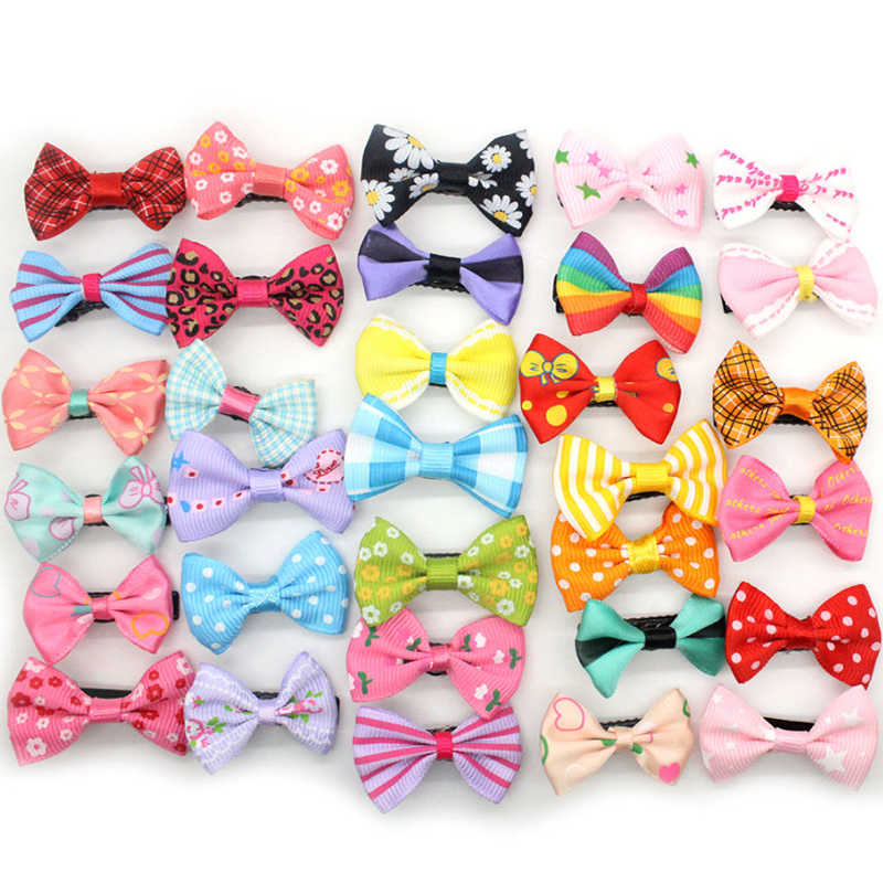 New Kids Children Ribbon Mixed Bow Duckbill Hairpins Small Cloth Cute Korean Hair clips Hair Accessories Random Color