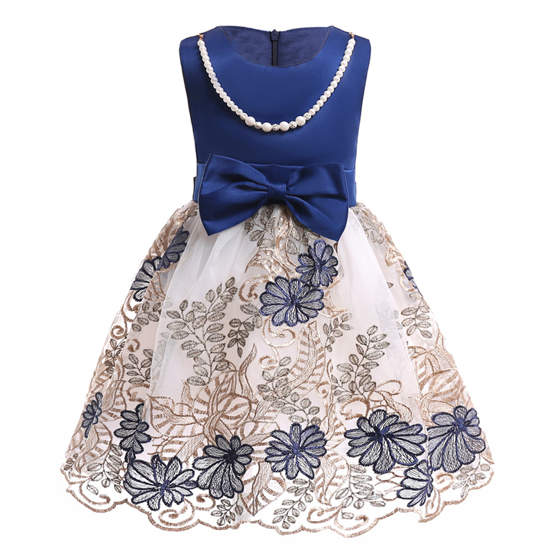 Baby Girls 2018  Summer Clothes Kids Dresses For Girls Children Clothing Princess Dress Party Wedding Evening Dress 2 10 7 Years