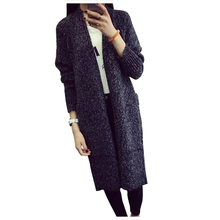 New Women Long Cardigans Autumn Thicken Jacket Coat Casual Knitted Sweaters Cardigan Warm Outerwear