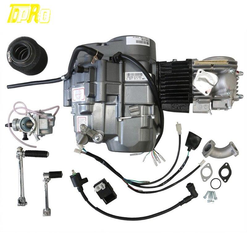 140cc מנוע מנוע W/פחמימות אוויר מסנן ידני מצמד 1N234 הילוך עפר בור אופניים