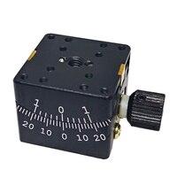 Manual Goniometer Stage Dovetail Platform Precise Optical Sliding Table 25x25mm Y