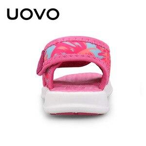 Image 5 - UOVO bebek yürümeye başlayan sandalet 2020 yaz ayakkabı kızlar ve erkekler için hafif taban çocuk sandalet yüksek kalite boyutu 24 # 32 #
