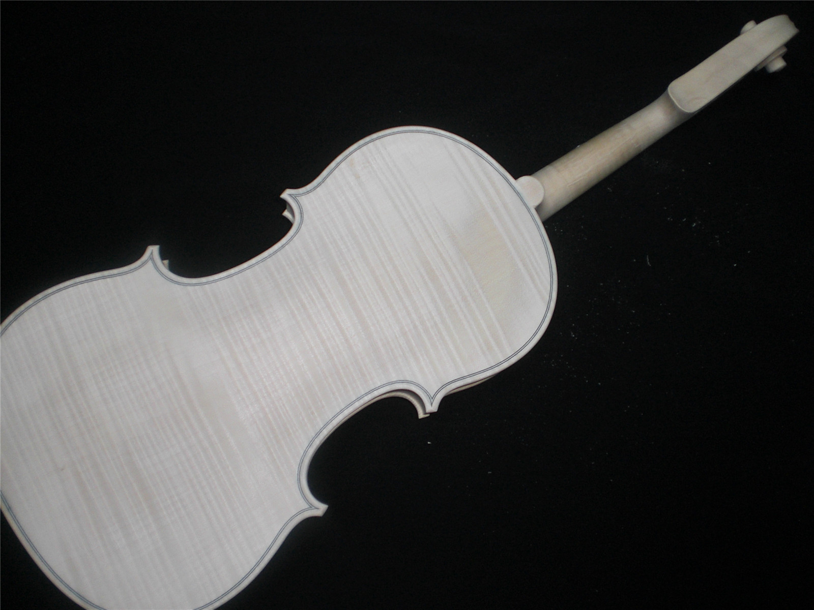1 PC Flamed Maple Whole piece back Spruce top White Violin 4/4 unfinished violin nice wood grains EU5304# austrian spruce ch j b collion mezin copy french master violin no 1408 nice sound antique violin100% handmade
