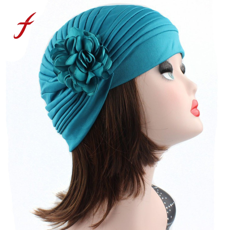 Cheap Price !11 Colors 2018 New Fashion Women Red Indian Stretch Bohemian Turban Hat Chemo Cap Flower Hair Scarf Headwrap