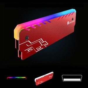 Image 2 - Mémoire vive RGB refroidisseur, 2 pièces, gilet de refroidissement, dissipateur de chaleur, dissipation de rayonnement, pour bricolage, jeux PC, surverrouillage, MOD DDR3 DDR4