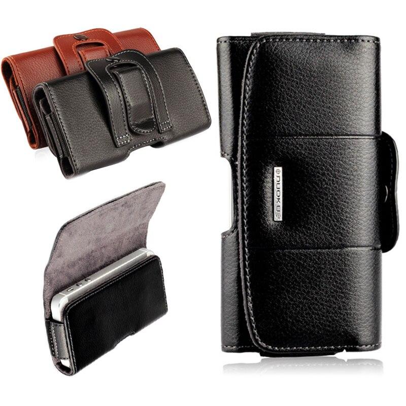 imágenes para Cajas del teléfono móvil funda de cuero clip de cinturón holster para el iphone 7 6 6 s plus bolsa de la cubierta del teléfono celular para iphone 7 6 4 4S 5 5S se funda
