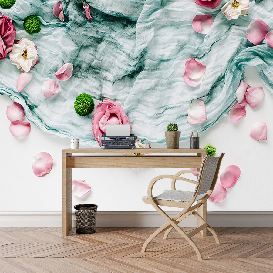 Floral Rose 3d Wallpaper Nature Murals Wallpapers For Living Room Wall Papers Home Decor Paper 3d Embossed Mural Walls Rolls Art