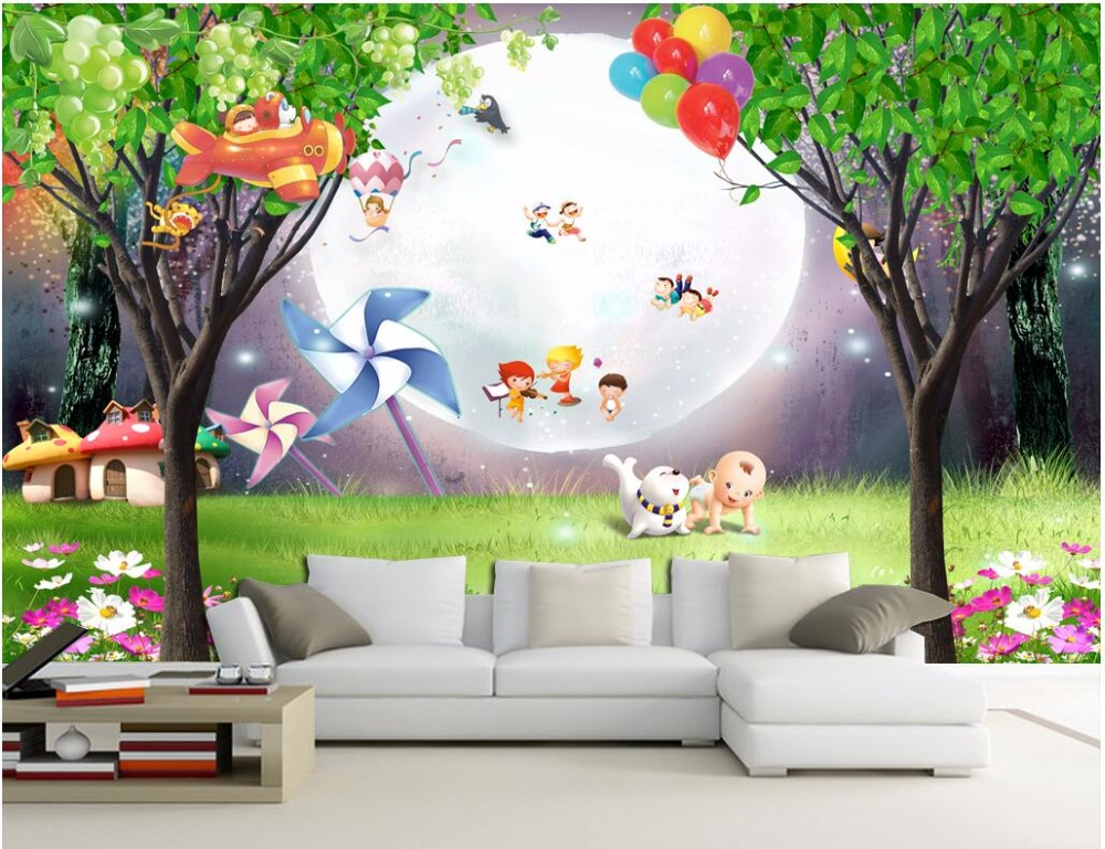 Custom photo mural 3d wallpaper picture children 39 s game for Custom photo mural