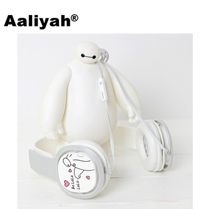 [Aaliyah] 3.5mm Cute Cartoon Girls Kids Headphones Minions Headband Earphones With Microphone for Smartphone iphone Xiaomi MP3