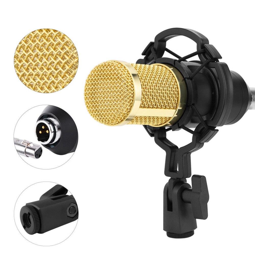 Microphone à condensateur BM 800 Microphone professionnel pour ordinateur Microphone d'enregistrement Vocal de Studio professionnel pour karaoké - 4
