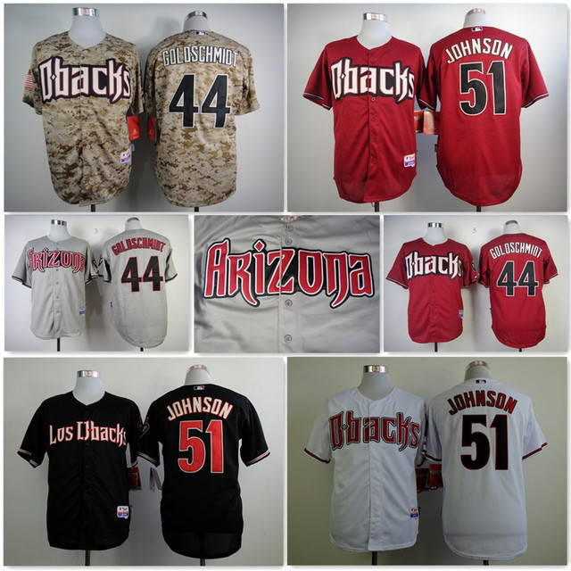 afe36ced5 2015 Cheap arizona diamondbacks jersey throwback baseball shirt authentic  Stitched randy johnson arizona Diamondbacks Jersey