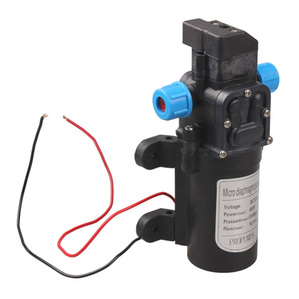 DC 12V 60W Micro Electric Diaphragm Water Pump Automatic Switch 5L/min High Pressure Car Washing Spray Water Pump High Quality