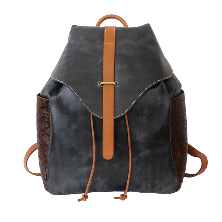 Vintage Rucksack women's bags women's backpacks genuine leather knapsack leisure trends packsack Feminina School Bag backpacks