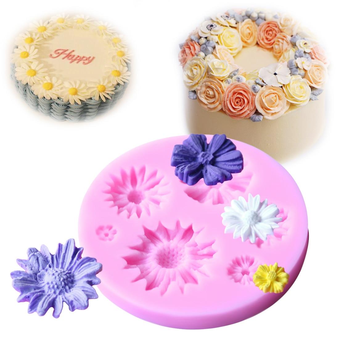 Flower Leaf Baking Cake Mold Kitchen Pastry Fondant Chocolate Decorative Tool De