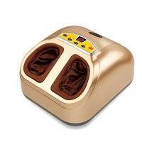 Electric machine Air pressure hot Shiatsu Reflexology Vibrating Roller foot Massage Health care 220V 4D foot heating massager