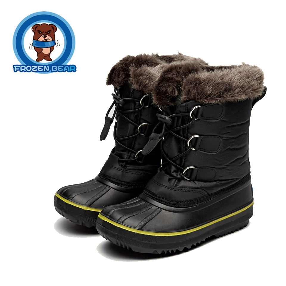 Snow Toddler Fur Warm Boots Soft Mid-calf Kids Booties Waterproof Baby Winter Pink Shoes Little Girls Boys Infant Boot KT902