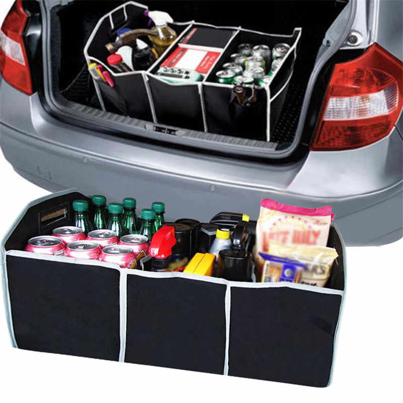Auto Car Trunk Cargo Organizer Collapsible Bag Storage Black Folding In The Car Trunk Organizer Box Bag Portable NEW