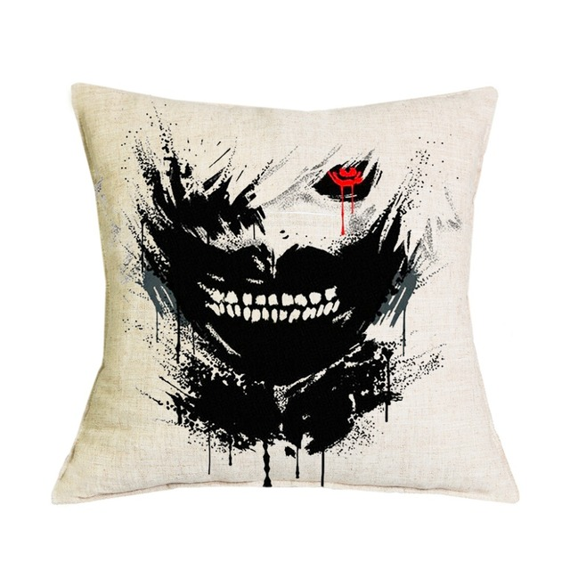 Tokyo Ghoul Cushions Linen Cushion Cover Throw Pillow For Living Room Bed Room 1 PCS