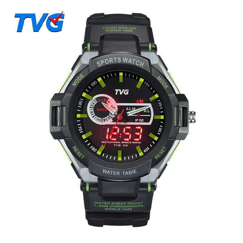 TVG Men Sports Military digital Watch Army wristwatch LED 30AM Waterproof Vibration Alarm Outdoor Watches Relogio Masculino