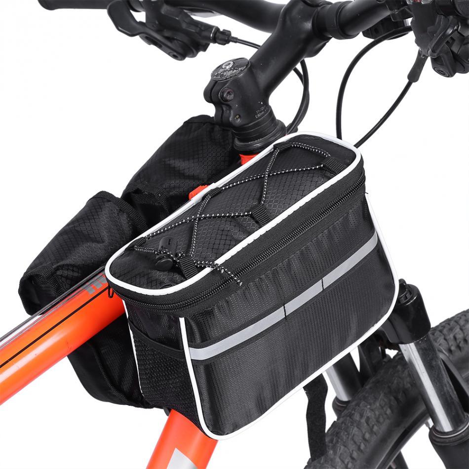 Us 1599 Mtb Oberrohr Fahrradtasche Fahrradtasche Dreieck Rahmen Bag Packtaschen Reflektierende Streifen Radfahren Rennrad Vordere Lenkertasche