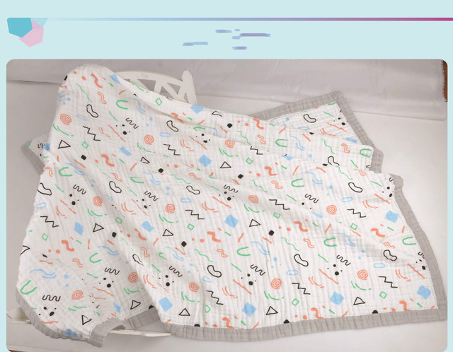 The new day swadding four cotton layer gauze towel blanket baby baby wide wrapping 120*160