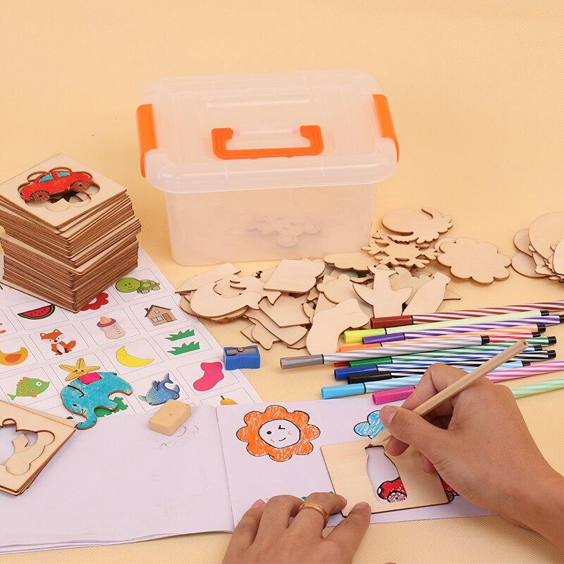 pintura, aprendizaje, cuaderno, madera, juguetes, dibujo, juguetes, - Educación y entrenamiento - foto 5