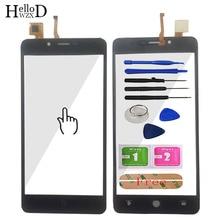 HelloWZXD komórkowy dotykowy Panel telefonu z ekranem dotykowym przedniej digitalizator do szkła ekranu czujnika panelu dla Leagoo Kiicaa zasilania narzędzia klej