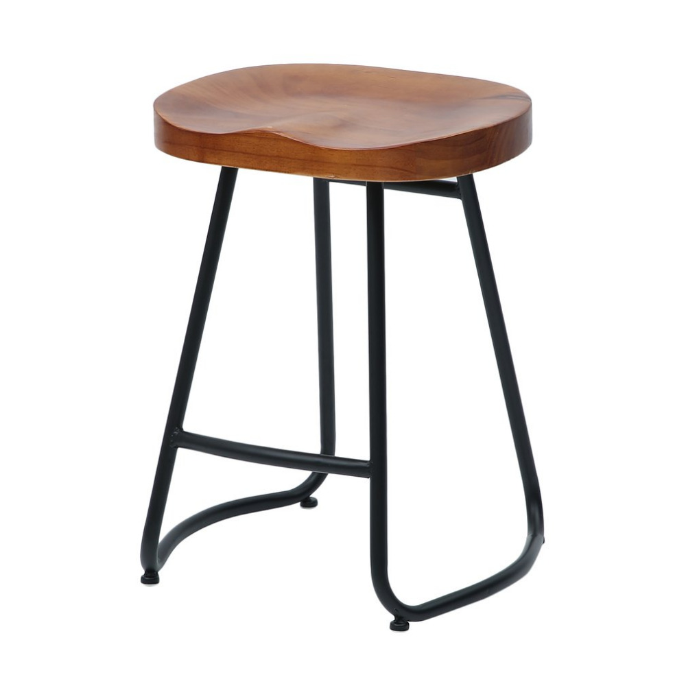 Newest 55cm Pub Bar Stool Classic Backless Barstool Vintage Rustic Design Kitchen Wooden Stool Industrial Style Home Furniture holland bar stool co university of florida chrome pub table