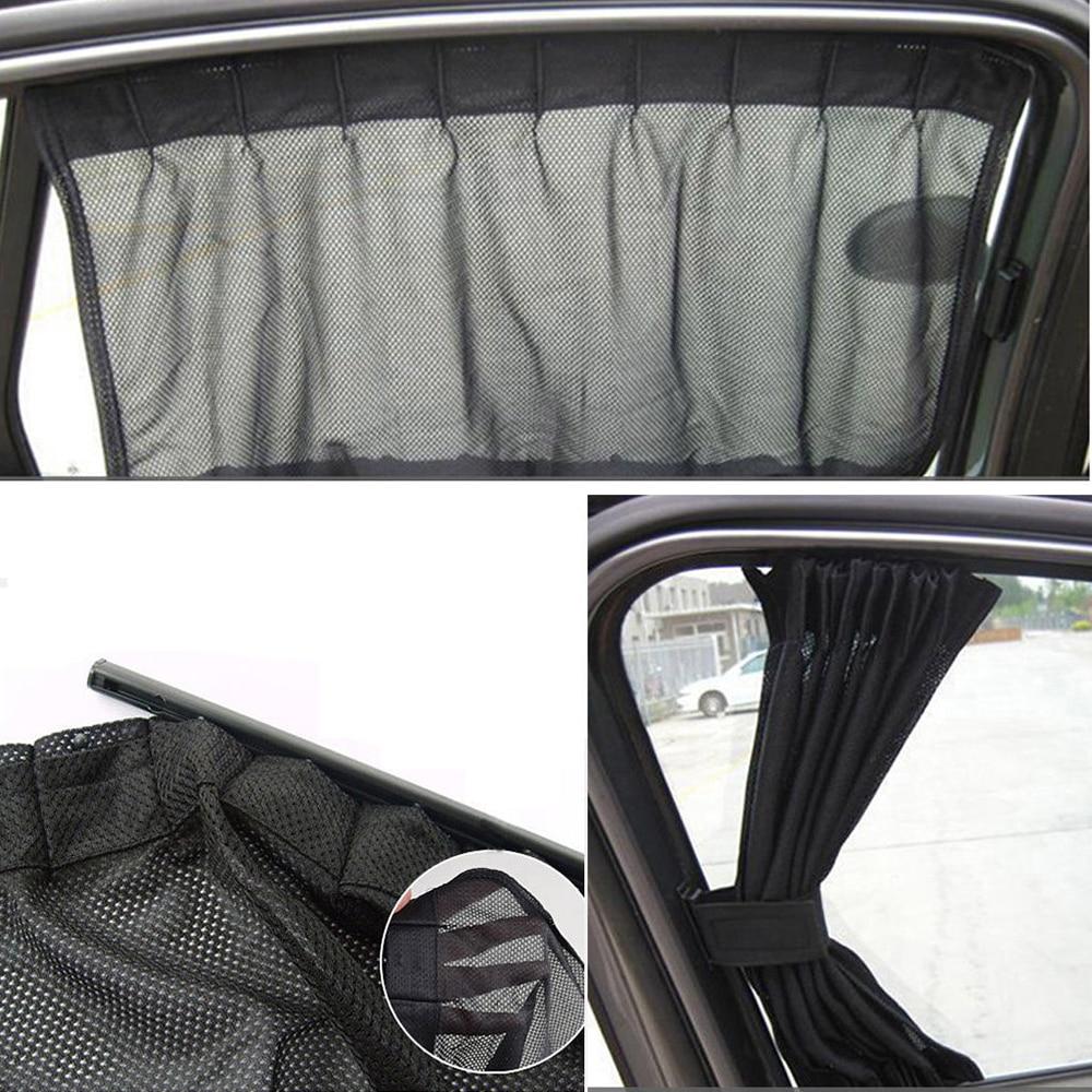 1Pair Adjustable Foldable Car Sun Shade Window SunShade Drape Visor Valance Curtain Windshield Sunshade Car Side Window Sunshade