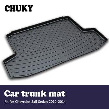 CHUKY For Chevrolet Sail Sedan 2010 2011 2012 2013 2014Car Cargo rear trunk mat Boot Liner Tray Carpet Anti-slip mat Accessories