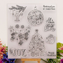 Рождественская елка марки Прозрачный Очистить резиновый штамп распечатка с изображением оленя для бумажные карточки для скрапбукинга делая приглашения на свадьбу DIY