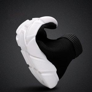 Image 4 - Hundunsnake High Top Krasovki Men Summer Man Sneakers Sock Women Sport Shoes Men Sport Shoes Mens Running Shoes 2019 Black A 199