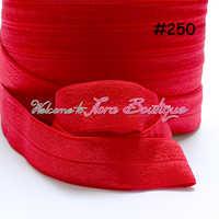 สียืดหยุ่นมากกว่า 100 หลาต่อ lot, #250 สีแดงยืดหยุ่นริบบิ้น