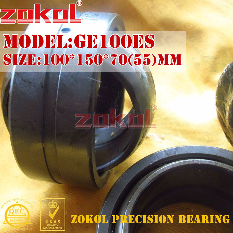 ZOKOL bearing GE100ES Radial Spherical Plain Bearing 100 150 70 55 mm
