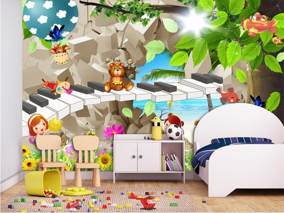 3d wallpaper photo wallpaper custom kids room mural brick wall musical 3d painting picture 3d wall mural wallpaper for walls 3d