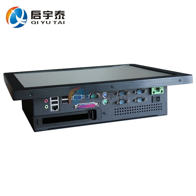 5COM/4USB /PCI 17 Embedded pc touch screen Resolution 1280x1024 Industrial computer with intel D525 1.8GHz 2GB DDR3 32G SSD partaker 1u firewall server security firewall d525 with intel pci e 1000m 4 82583v 2gb ram 32gb ssd pfsense router