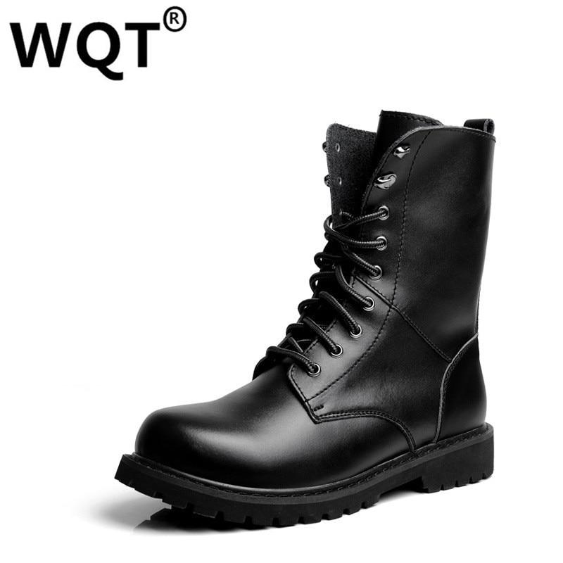 Big Size 35 49 Lovers Fashion Martin font b Boots b font Genuine Leather Shoes Men