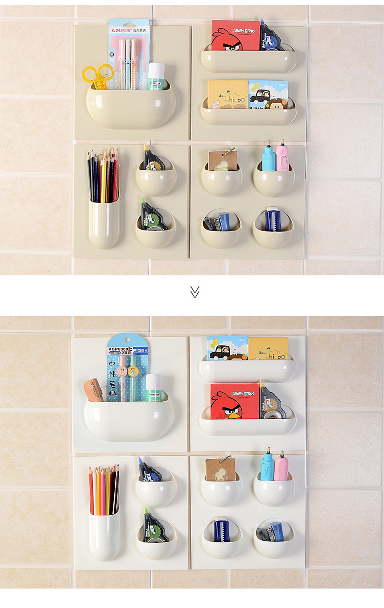 Bathroom Kitchen ABS+PVC Storage Bathroom Shelf Multipurpose Kitchen Storage Holder Paste Hanging Wall Storage Shelves -in Racks \u0026 Holders from Home ...  sc 1 st  AliExpress.com & Bathroom Kitchen ABS+PVC Storage Bathroom Shelf Multipurpose Kitchen ...