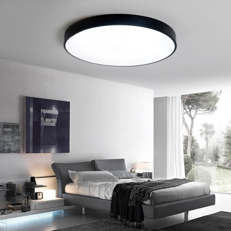 LED ceiling lamp round bedroom lights home super bright balcony study aisle light simple and modern thin living room lamp led all copper ceiling lights balcony aisle lights study bedroom lights porch dining room lamp modern simple european style lamps