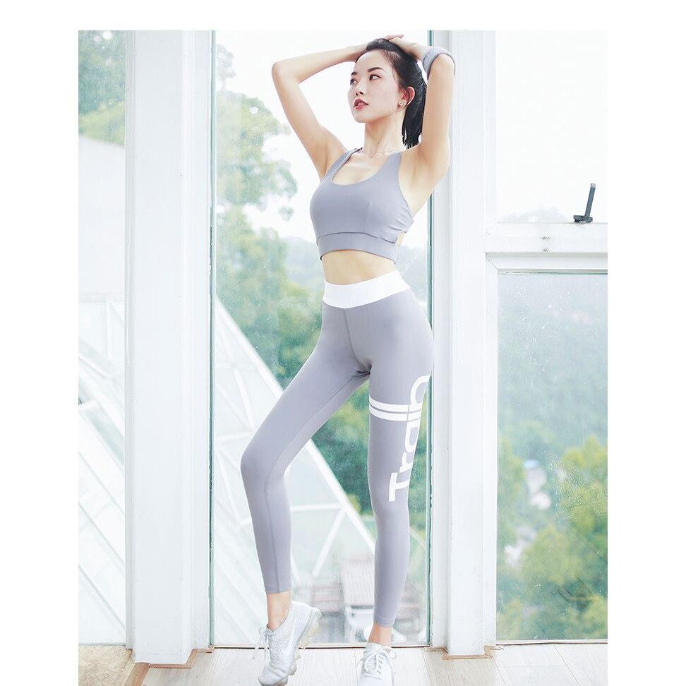 Damen Sport Leggings Yogahosen Fitness Pilates Elastic Leggings - Sportbekleidung und Accessoires - Foto 2