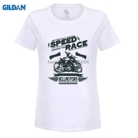 GILDAN Ultime Slim Fit Girocollo Velocità Cafe Racer Hot Rod Old School Chopper V8 Ace Maglie Maniche Corte