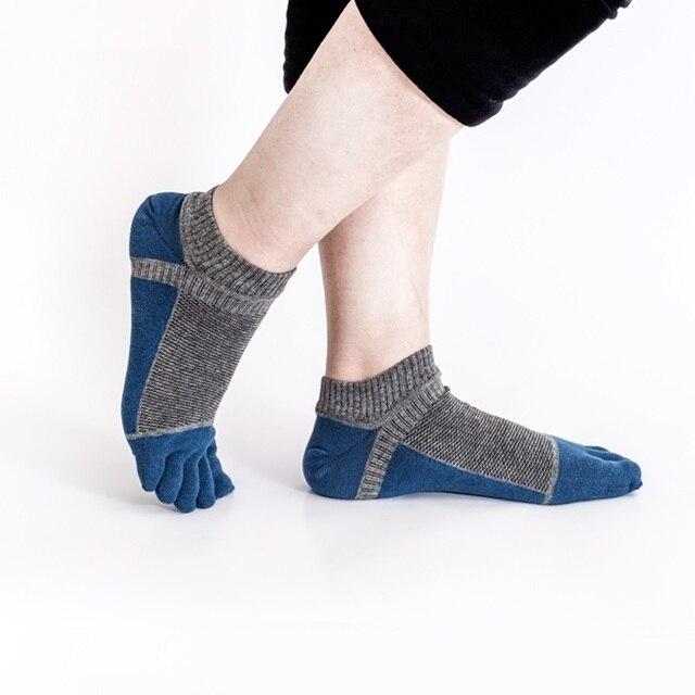 e94fd5727782 Men s Patchwork Split Toe Socks Mesh Breathable Cotton Socks Japanese  Kimono Flip-Flop Sandal Sock