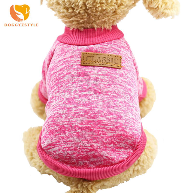 Cozy Classic Dog Sweater Pet Dog Clothes for Small Dogs Winter Warm Coat Fleece High-grade 15 Colors Christmas Clothing
