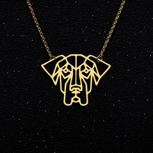 Hollow Dog Pendents Necklaces Collier Geometric Pendent Pet Lover Jewelry Accessories Gift Animal Necklace Party