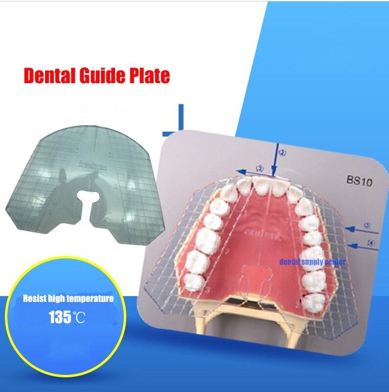 1pc dental lab dental guide plate teeth arrangement on denture work free shipping dental occlusal maxillary casting jaw fox plane plate complete denture