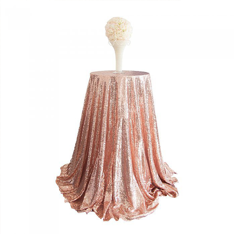 120cm Round Sequin Various Colors Tablecloth Silver Sequin ...
