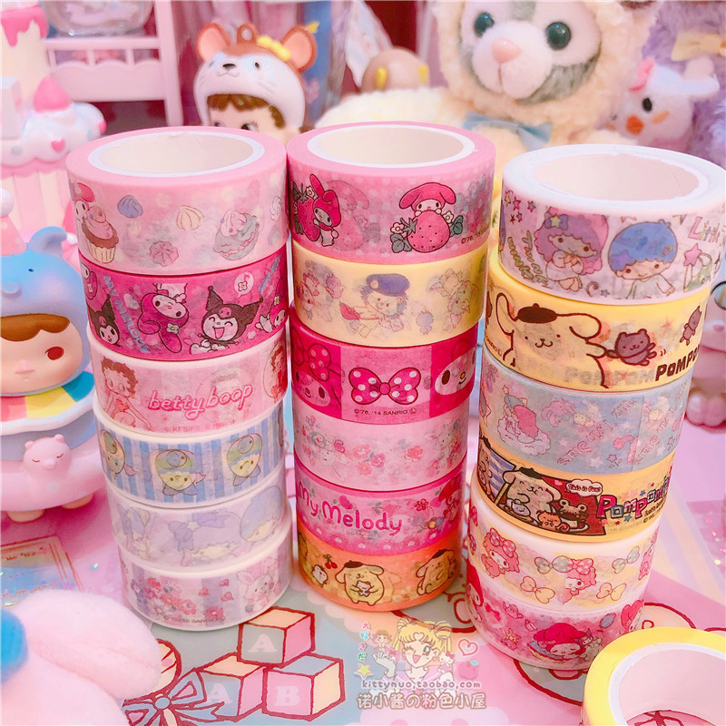 2pcs/lot Cartoon My Melody Little Twin Stars Cinnamoroll Washi Tape DIY Japanese Paper Decorative Masking Tape Stickers