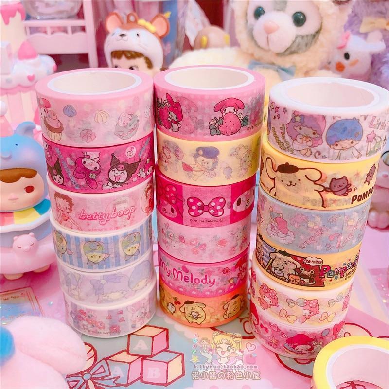 2pcs/lot Cartoon My Melody Little Twin Stars Cinnamoroll Washi Tape DIY Japanese Paper Decorative Masking Tape Stickers